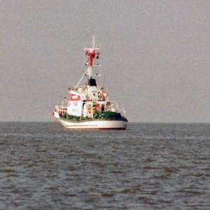 Vormann Leiss auf Seeposition vor Anker