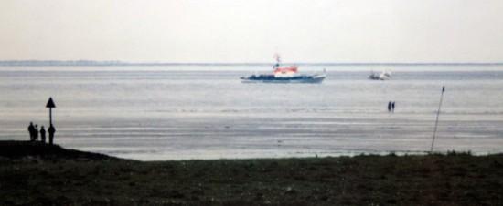 SRK Arwed Emminghaus rettet Sportboot vor Otterndorf, 1980er.