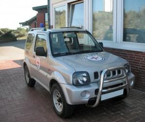 Seenotretter-Jeep auf Wangerooge, 2010.