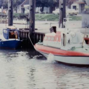 MB Hobby und SRB Carl A. Wuppesahl, Feddewardersiel Ende 1970er.
