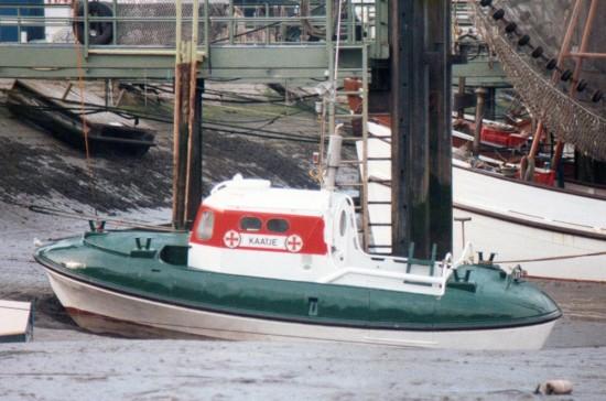 Kaatje (I) in Fedderwardersiel, Mitte 1980er.