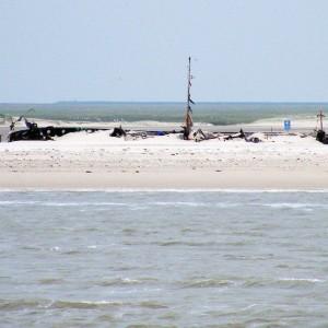 Muschelsaugerwrack auf Norderney 2009