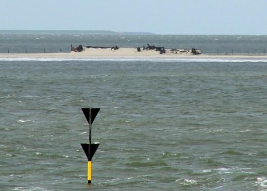 Muschelsaugerwrack auf Norderney 2005