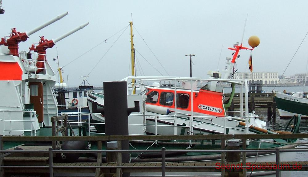 Tochterboot Caspar des SRK Arkona in Warnemünde, 2007.