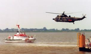 SRK Vormann Leiss, Bergung mit Hubschrauber 1995.