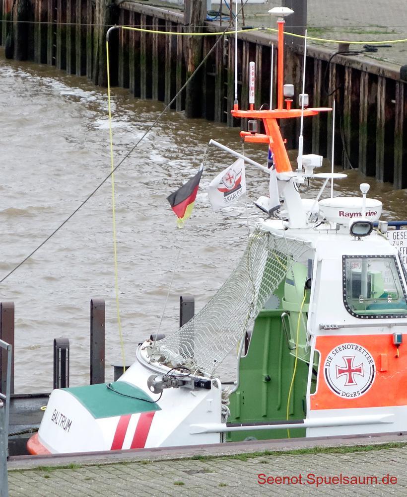 SRB Baltrum, Schutznetz abgerollt