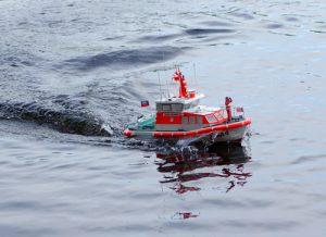 Wilma Sikorski, Modell vom aktuell auf Wangerooge stationierten Seenotrettungsboot.